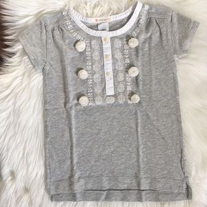 NWT Crewcuts Pompom Embroidered Shirt